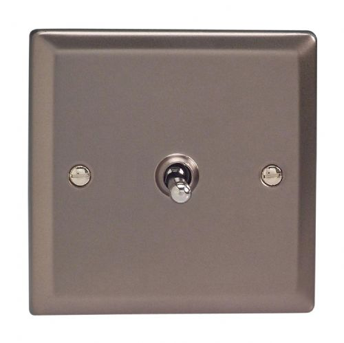Varilight XRT1 Classic Pewter 1 Gang 10A 1 or 2 Way Toggle Light Switch